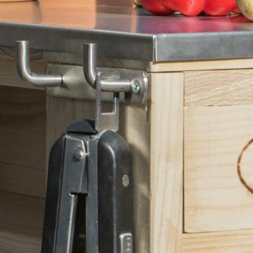 Grilltisch aus Paletten Grillwagen Palettenmoebel
