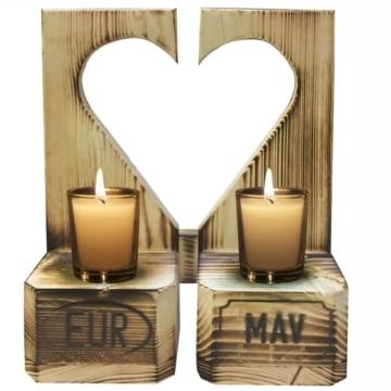 Kerzenhalter Teelicht aus Europaletten