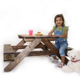 Kinderbank Tisch aus Europlaetten Palettenmoebel