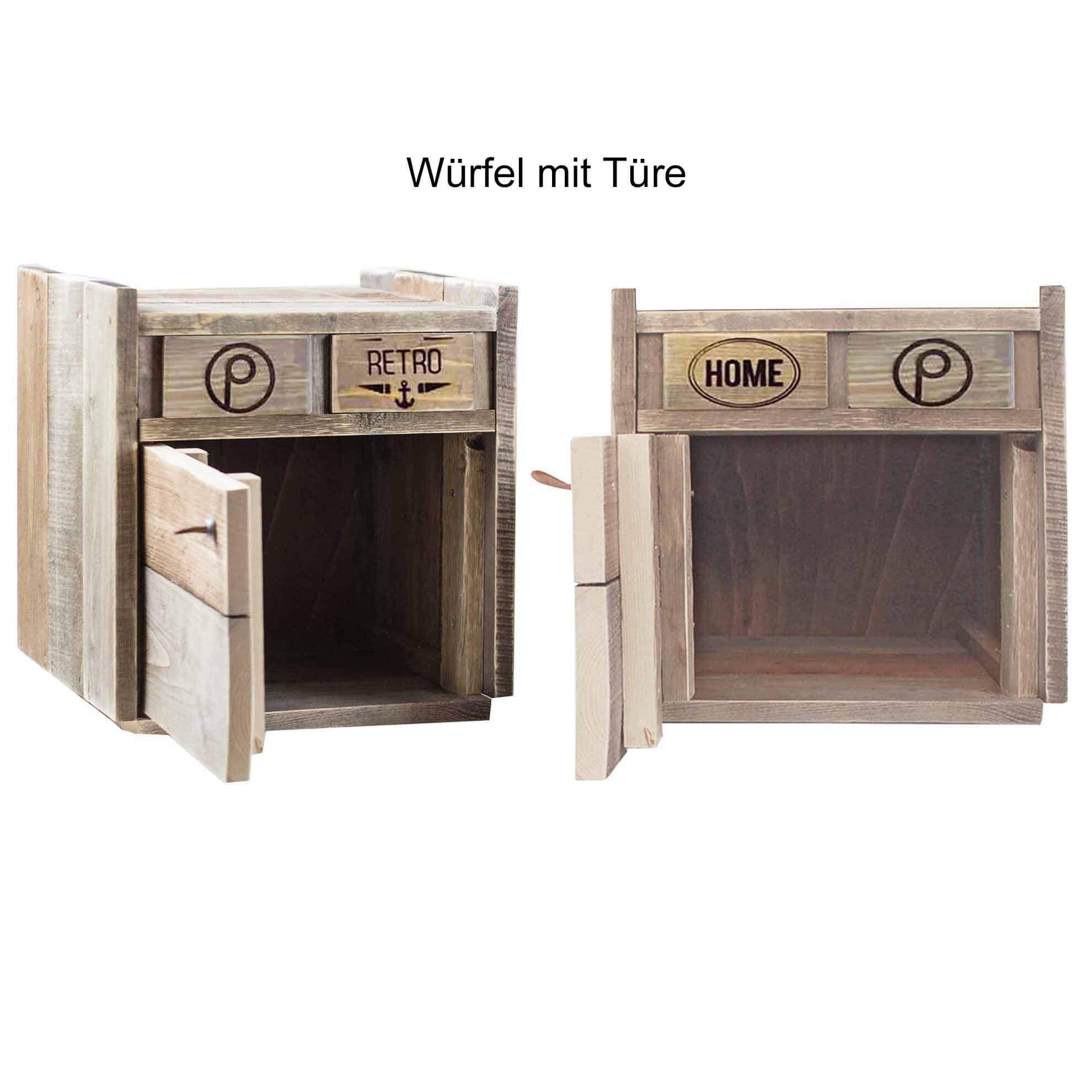 paletten kommoden w rfel mit t r palettenm bel shop. Black Bedroom Furniture Sets. Home Design Ideas