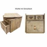Kommode Wuerfel aus Europaletten mit Schubladen Palettenmoebel