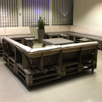 Lounge Bank aus Paletten Sofa Palettenmoebel