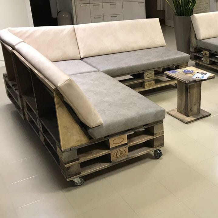 Palettensofa Lounge Sofa aus Paletten