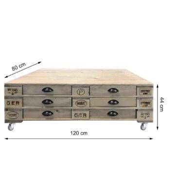 Palettentisch mit Schubladen aus Europaletten Palettenmoebel