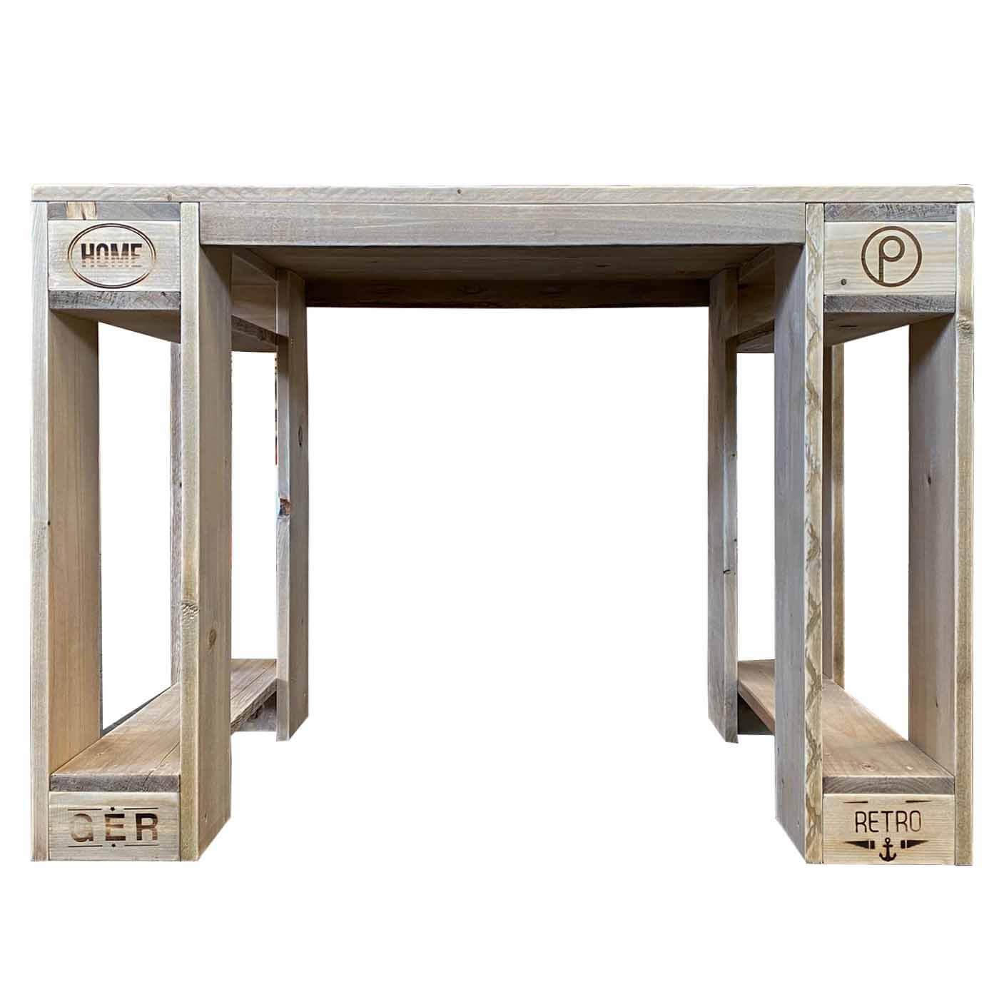 Schreibtisch aus Europaletten Palettenmoebel