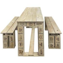 Sitzmoebel Garnitur aus Europaletten Tisch Europaletten