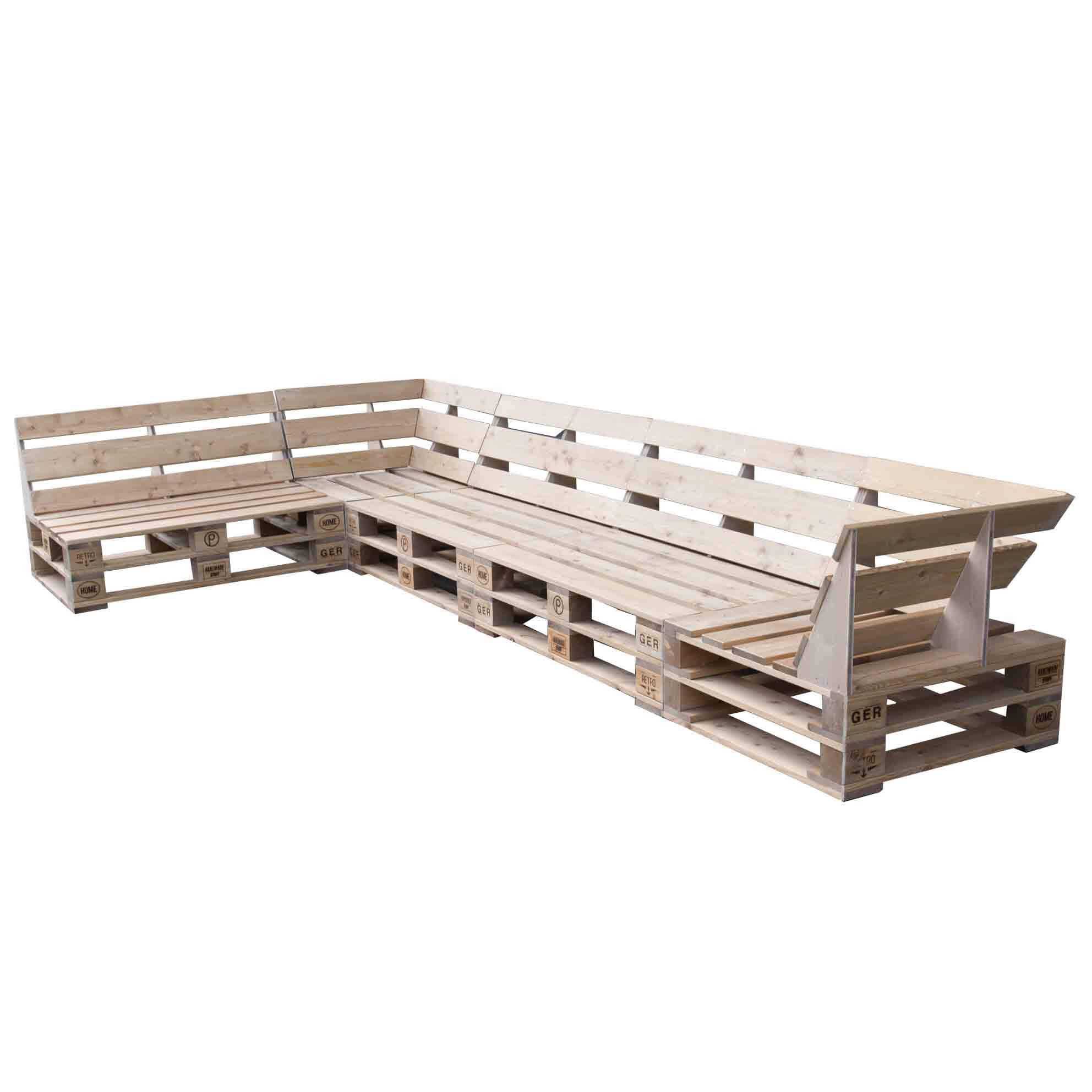 ᐅᐅ Palettensofa – Premium Lounge aus Paletten | Palettenmöbel Shop