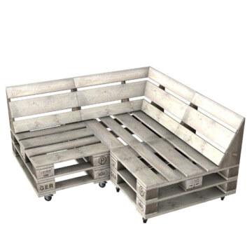 Sofa aus Europaletten Lounge Palettenmoebel