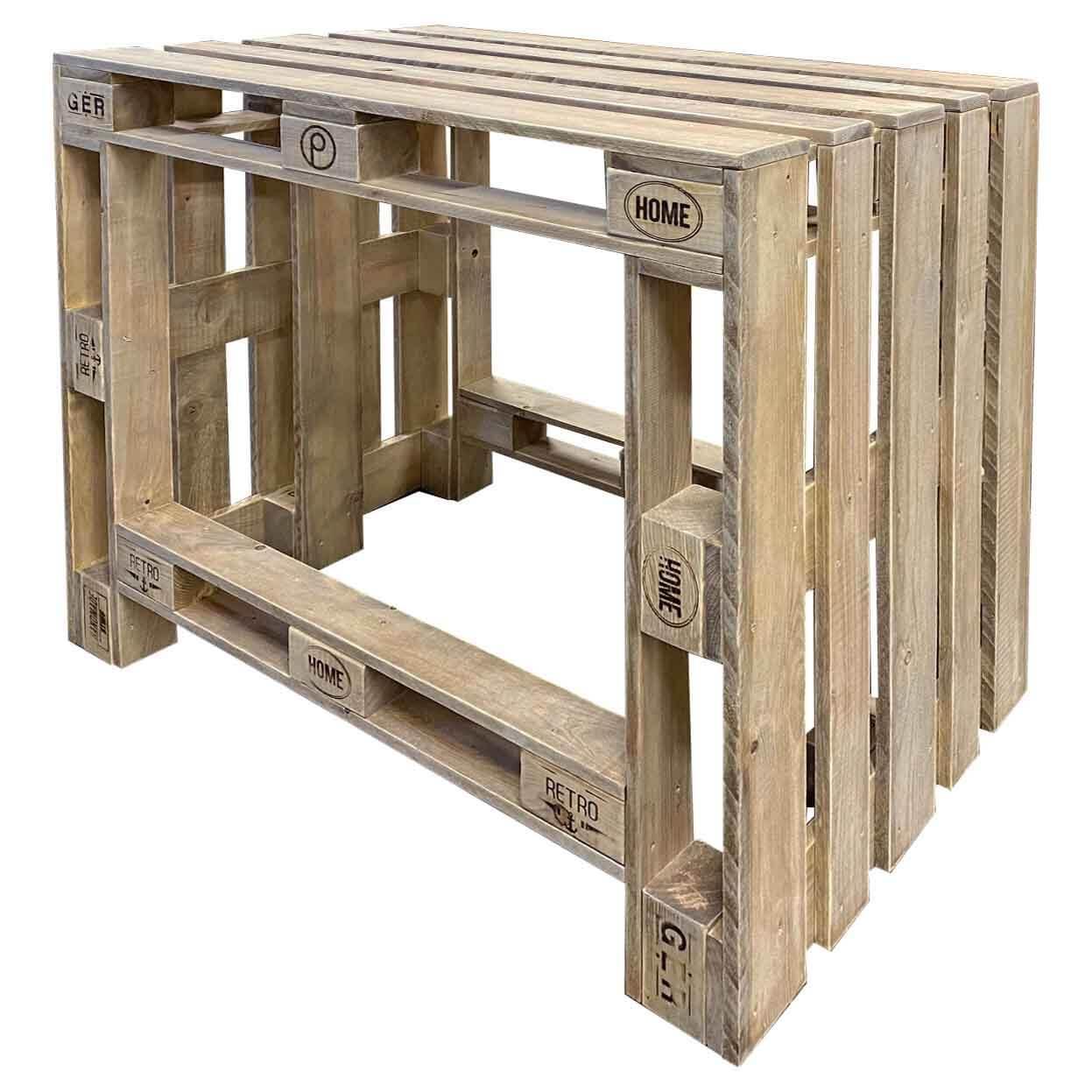 Steh Tisch aus Europaletten Palettenmoebel