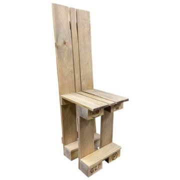 Stuhl aus Europaletten Palettenmoebel