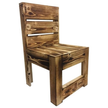 Stuhl aus Europaletten geflammt Palettenmoebel