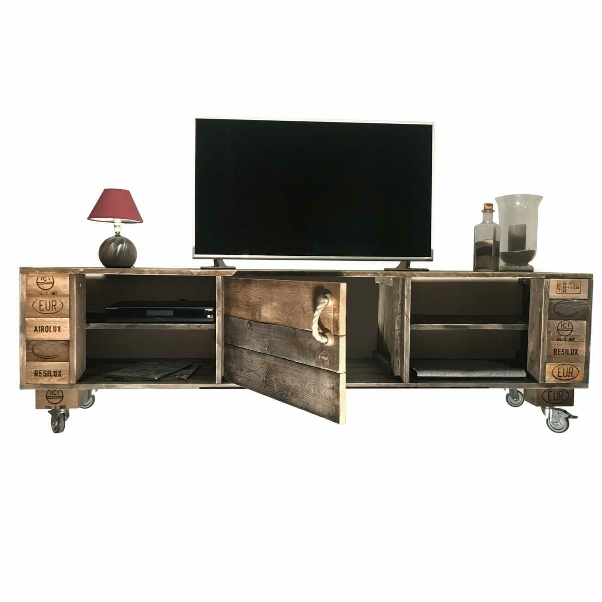 sideboard aus paletten-tv-schrank kommode