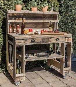 Grilltisch aus Paletten-Grill Tisch aus Europaletten (2)