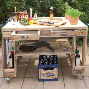 Grilltisch aus Paletten-Grill Tisch aus Europaletten (7)