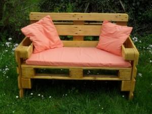 Bank aus Paletten bauen- Garten-Gartenmöbel