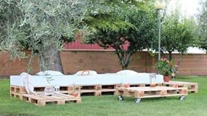 Garten Lounge Palettenmöbel - Gartenmöbel mit Palettenpolstern
