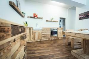 Küche aus Europaletten Bilder