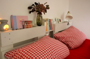 Kopfteil-Lehne Palettenmöbel Bett 87