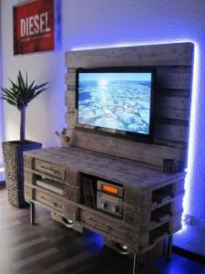 Paletten TV Tisch-Sideboard-Palettenmöbel Ideen