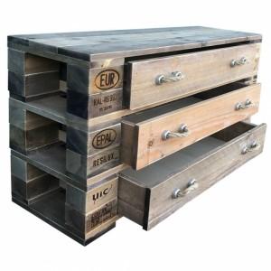 Palettenmöbel-Kommode-mit-Schubladen & Seilgriffen (2)