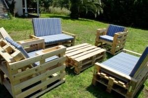 Palettenmöbel für die Garten-Lounge