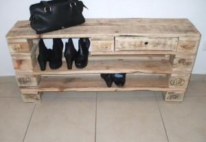 Schuhregal aus Paletten- Europaletten Möbel-Regal