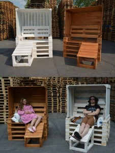 Strandkorb-aus-Europaletten- Palettenmöbel selbst bauen