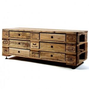 TV-Tisch- Sideboard aus Paletten DIY