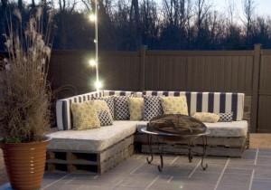 Terrassenmöbel aus Europaletten- Terrasse -Palettenmöbel Projekt