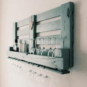 Weinregal aus Europaletten-Palettenmöbel Inspirationen